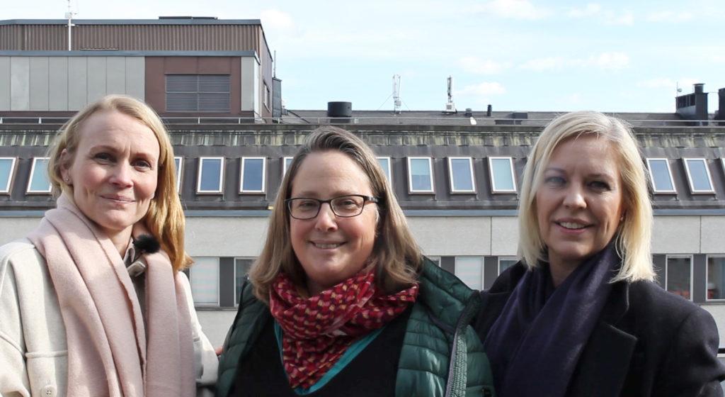 Rapportens författare Åsa von Berens, Bettina Meinow och Jenny Österman.